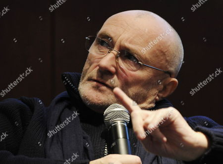 Stock Picture of British Musician Phil Collins Talks About His 'Little Dreams Foundation' in Zurich Switzerland 14 December 2011 the Little Dreams Foundation was Created in 2000 by Phil Collins and His Then-wife Orianne Cevey Its Mission is to Support Young Talents in Artistic and Sporting Fields Switzerland Schweiz Suisse Zurich