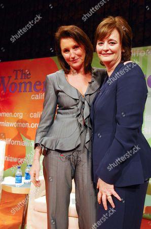Cecilia Attias and Cherie Blair