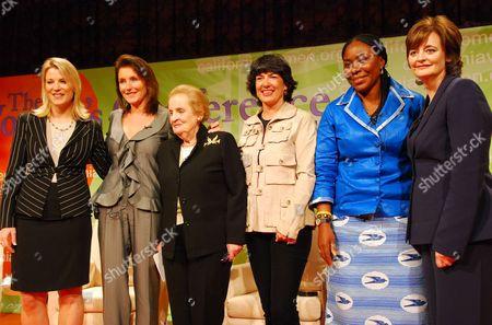 Laura Ipsen, Cecilia Attias, Madeleine Albright, Christiane Amanpour, Cerue Konah Garlo and Cherie Blair