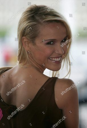 Tamara Sedmak Poses on the Red Carpet Just Before the Official Ceremony of the 45th Rose D'or Festival at the Culture and Congresscenter (kkl) in Lucerne Switzerland Saturday 07 May 2005 the Rose D'or is an International Festival For Television Entertainment Programming Switzerland Schweiz Suisse Luzern