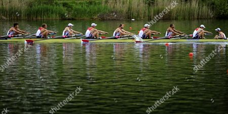 Editorial photo of Switzerland Rowing Olympic Qualification - May 2012