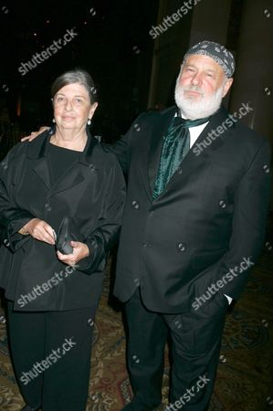 Bruce Weber with his wife Nan Bush (left)