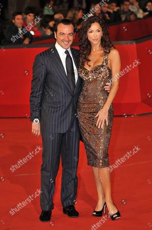 Sofia Milos and fiance Alessandro Martorana
