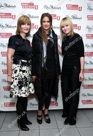 Laura McEwen (Publisher, Teen Vogue), Kira Plastinina, Amy Astley (Editor-In Chief, Teen Vogue)