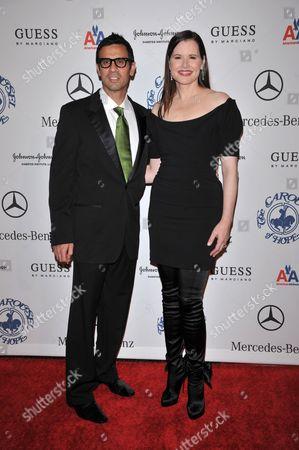 Dr. Reza Jarrahy and Geena Davis