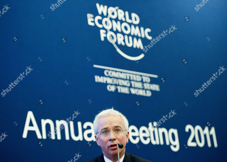 Peter Sands Group Chief Executive of the British Bank Standard Chartered Speaks During a Panel Session on the First Day of the 41st Annual Meeting of the World Economic Forum (wef) in Davos Switzerland 26 January 2011 the Overarching Theme of the Summit is 'Shared Norms For the New Reality' It Takes Place From January 26 to 30 Switzerland Schweiz Suisse Davos