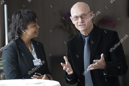 Pascal Lamy (r) Director-general of the World Trade Organization Wto Speaks with Jamaica's State Minister For Foreign Affairs and International Trade Marlene Malahoo Forte (l) Prior to an Informal Meeting of Twenty-five Ministers Responsible For the World Trade Organization Wto on the Sideline of the 41st Annual Meeting of the World Economic Forum Wef in Davos Switzerland on 29 January 2011 the Overarching Theme of This Year's World Economic Forum Annual Meeting From 26 to 30 January is 'Shared Norms For the New Reality' Switzerland Schweiz Suisse Davos