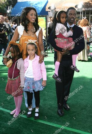 Chris Rock and Malaak Compton Rock with family