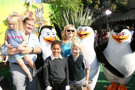 Andy Richter, wife Sarah Thyre and family