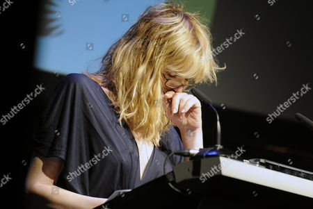 A Picture Made Available on 03 October Shows Us Singer and Actress Courtney Love Moved to Tears As She Holds the Honorific Speech For Czech Film Director Milos Forman who Recieved a Tribute For His Lifetime Work at the Closing Night of the Zurich Film Festival in Zurich Switzerland 02 October 2010 Switzerland Schweiz Suisse Zurich