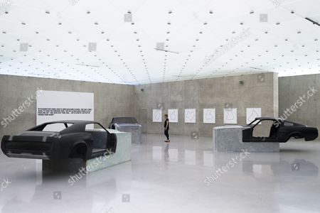 A General View of the Exhibiton 'It's a Free Concert' of Us Artist Richard Prince at the 'Kunsthaus Bregenz' 17 July 2014 in Bregenz Austria the Exhibtion Runs From 19 July to 05 October Austria Bregenz