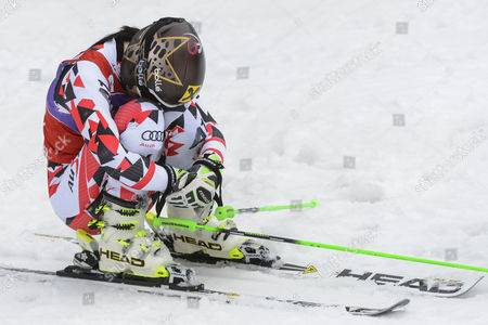 Anna Fenninger of Austria Reacts in the Finish Area During the Second Run of the Women's Giant-slalom Race at the Fis Alpine Skiing World Cup Finals in Meribel France 22 March 2015 France Meribel
