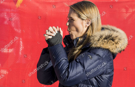 Morgan Beck Miller Watches Her Husband Bode Miller Competing in the Downhill Portion of the Men's Super Combined Competition at the Rosa Khutor Alpine Center During the Sochi 2014 Olympic Games Krasnaya Polyana Russia 14 February 2014 Russian Federation Krasnaya Polyana
