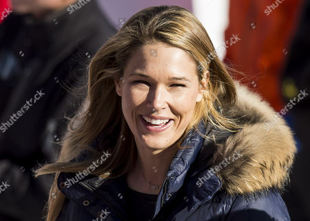 Morgan Beck Miller Wife of Us Skier Bode Miller During the Downhill Portion of the Men's Super Combined Competition at the Rosa Khutor Alpine Center During the Sochi 2014 Olympic Games Krasnaya Polyana Russia 14 February 2014 Russian Federation Krasnaya Polyana