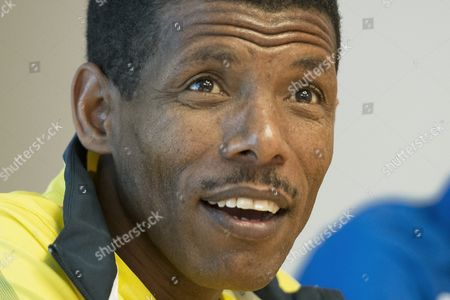 Ethiopian Long-distance Track Athlete Haile Gebrselassie Speaks During a Media Conference in Bern Switzerland 16 May 2013 the Grand Prix Bern Public Run in Which Gebrselassie Will Also Participate Will Take Place on 18 May 2013 Switzerland Schweiz Suisse Bern