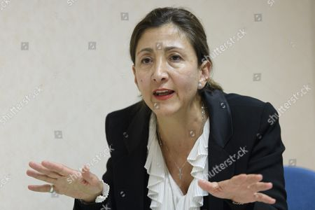 Ingrid Betancourt Former Presidential Candidate For Columbia Speaks About the Formation of the Committee 'Justice For Victims of 1988 Massacre in Iran' During a Press Conference in Geneva Switzerland 21 September 2016 Previously Secret Mass Graves of Political Prisoners Are to Be Revealed Switzerland Schweiz Suisse Geneva