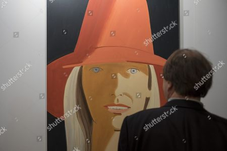 The Artwork 'Red Hat' (renee) (2013) by American Artist Alex Katz is on Display at the International Art Show Art Basel in Basel Switzerland 14 June 2016 the Show is Organized Around Eight Sectors Which Together Encompass a Vast Range of Artistic Mediums Including Paintings Sculpture Installations Film and Videos Multiples Prints Photography and Live Performance the Art Basel Exhibition is Open to the Public From June 16 to 19 2016 Switzerland Schweiz Suisse Basel