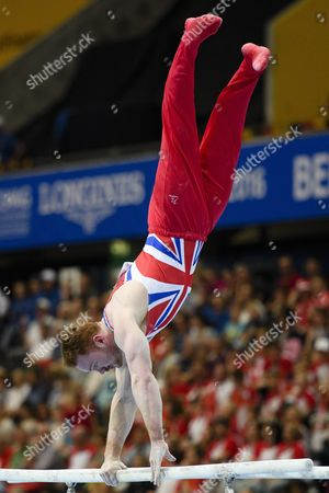 Daniel Purvis From Britain Performs on the Parallel Bars During the Men's Qualifications at the European Men's and Women's Artistic Gymnastics Championships at the Postfinance Arena in Bern Switzerland 26 May 2016 Switzerland Schweiz Suisse Bern