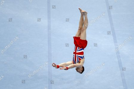 Britain's Daniel Purvis Performs During the Floor Exercise For the Men's Qualifications at the European Men's and Women's Artistic Gymnastics Championships at the Postfinance Arena in Bern Switzerland 26 May 2016 Switzerland Schweiz Suisse Bern