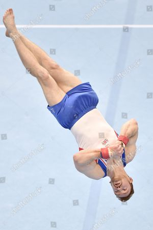 Daniel Purvis From Britain Performs During the Floor Exercise For the Men's Team Final at the European Men's and Women's Artistic Gymnastics Championships at the Postfinance Arena in Bern Switzerland 28 May 2016 Switzerland Schweiz Suisse Bern