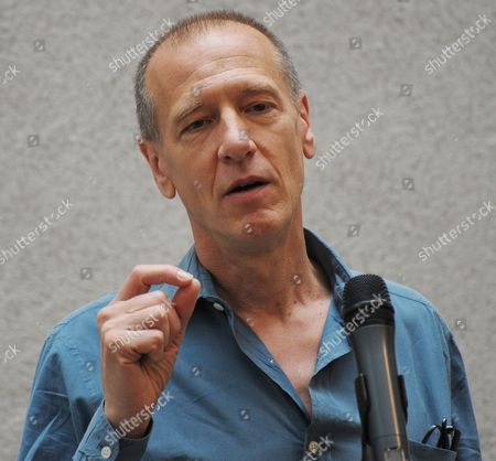 Us Artist Christian Marclay Speaks During the Press Preview of His Exhibition 'The Clock' at the Kunsthaus in Zurich Switzerland 23 August 2012 the 24-hour Video Artwork Will Be Presented From 24 August to 02 September 2012 Switzerland Schweiz Suisse Zurich