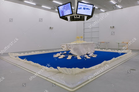 The Artwork 'Cremaster I: Goodyear Field' (1996) by Us Artist Matthew Barney is on Display at the Schaulager in Muenchenstein Switzerland 11 June 2015 the Exhibition 'Future Present' Presents Works From the Collection of the Emanuel Hoffmann Foundation Until 31 January 2016 Switzerland Schweiz Suisse Muenchenstein