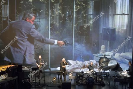 Us-swiss Artist Christian Marclay (far-r) and Band Rehearse Their Video Concert Performance 'Everyday' During the Biennale Bern in Berne Switzerland 11 September 2014 the Biennale Festival For Contemporary Arts Runs From 11 to 20 September Switzerland Schweiz Suisse Berne
