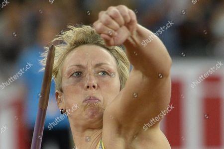 Christina Obergfoell From Germany Competes in the Women's Javelin Throw Event During the Weltklasse Iaaf Diamond League International Athletics Meeting in the Letzigrund Stadium in Zurich Switzerland 29 August 2013 Switzerland Schweiz Suisse Zurich