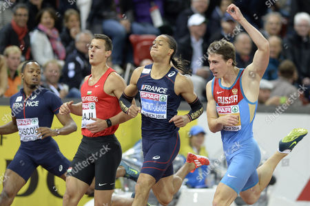 (r-l) Winner Sergey Shubenkov From Russia Fourth Placed Pascal Martinot-lagarde From France Balazs Baji From Hungary and Second Placed William Sharman From Great Britain Compete in the Men's 110m Hurdles Final During the European Athletics Championships in the Letzigrund Stadium in Zurich Switzerland 14 August 2014 Switzerland Schweiz Suisse Zurich