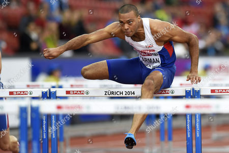 William Sharman From Britain Competes in the Men's 110m Hurdles Heat During the European Athletics Championships 2014 in the Letzigrund Stadium in Zurich Switzerland 13 August 2014 Switzerland Schweiz Suisse Zurich