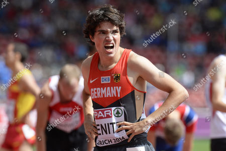 Timo Benitz From Germany Reacts After Competing in the Men's 1 500m Heat During the European Athletics Championships 2014 in the Letzigrund Stadium in Zurich Switzerland 15 August 2014 Switzerland Schweiz Suisse Zurich