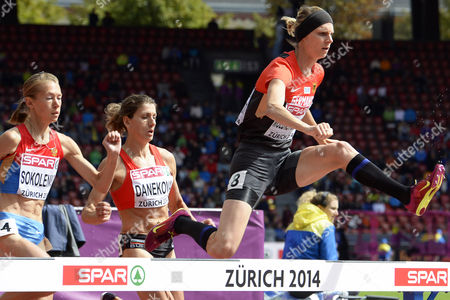 Antje Moeldner-schmidt (r) From Germany Competes in the Women's 3 000m Steeplechase Heat During the European Athletics Championships 2014 in the Letzigrund Stadium in Zurich Switzerland 15 August 2014 Switzerland Schweiz Suisse Zurich