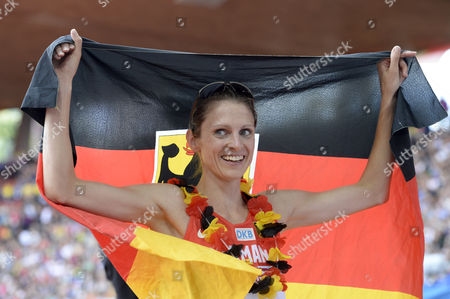 Winner Antje Moeldner-schmidt From Germany Reacts After the Women's 3'000m Steeplechase Final During the European Athletics Championships in the Letzigrund Stadium in Zurich Switzerland 17 August 2014 Switzerland Schweiz Suisse Zurich