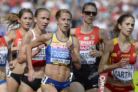 (l-r) Charlotta Fougberg From Sweden Antje Moeldner-schmidt From Germany Diana Martin From Spain Compete in the Women's 3'000m Steeplechase Final During the European Athletics Championships in the Letzigrund Stadium in Zurich Switzerland 17 August 2014 Switzerland Schweiz Suisse Zurich