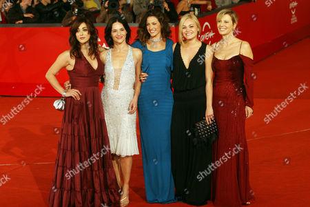 Valentina Lodovini, Chiara Caselli, Maria Jurado, Romina Carrisi Jr. and Daniela Poggi