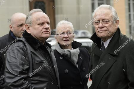 French Chef Joel Robuchon (l) and Swiss Chef Fredy Girardet (r) Pay Tribute to Swiss French Chef Benoit Violier During His Funeral Ceremony at the Cathedral of Lausanne Western Switzerland 05 February 2016 Three-star Chef Violier 44 Whose Restaurant 'Hotel De Ville' in Crissier Near Lausanne Recently Topped a List of the World's Best Has Been Found Dead of an Self-inflicted Gunshot on 31 January 2016 Switzerland Schweiz Suisse Lausanne