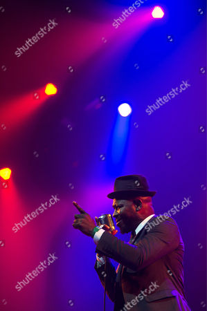Kelvin Swaby Singer of British Band 'The Heavy ' Performs on the Main Stage During the Caprices Festival in Crans-montana Switzerland 14 March 2013 the Festival Runs Until 16 March Switzerland Schweiz Suisse Crans Montana