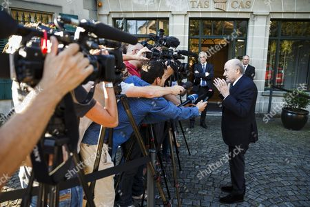 Former Fifa President Sepp Blatter Arrives at the International Court of Arbitration For Sport (cas) For His Appeal on a Six Years Ban on Football Related Activities in Lausanne Switzerland 25 August 2016 Switzerland Schweiz Suisse Lausanne