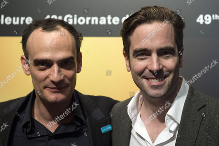 Swiss Director Alain Gsponer (r) and Swiss Actor Anatole Taubman (l) Pose During the Opening of the Solothurn Film Festival (stf) in Solothurn Switzerland 23 January 2014 the Event Runs From 23 to 30 January Switzerland Schweiz Suisse Solothurn
