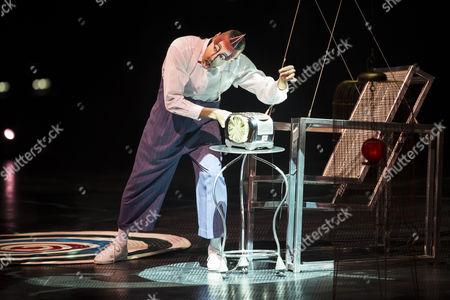 Stock Photo of Artist Mark Ward of the Cirque Du Soleil Performs During the Premiere of Their Show 'Quidam' in Zurich Switzerland 15 October 2014 Switzerland Schweiz Suisse Oerlikon