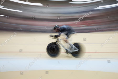 German Cyclist Jens Voigt Cycles During His Attempt to Break the One Hour Cycling World Record at the Velodrome Suisse in Grenchen Switzerland 18 September 2014 Jens Voigt Will Attempt to Break the Classic Hour Record One of Cycling's Oldest and Hardest Tests Switzerland Schweiz Suisse Bern