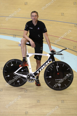 German Cyclist Jens Voigt Poses During a Press Conference at the Velodrome Suisse in Grenchen Switzerland 17 September 2014 Voigt Will Try to Break the Record in One Hour Cycling on 18 September Switzerland Schweiz Suisse Grenchen