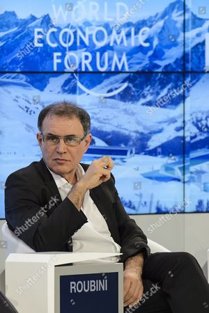 Stock Picture of Nouriel Roubini Professor of Economics at the 46th Annual Meeting of the World Economic Forum (wef) in Davos Switzerland 20 January 2016 the Overarching Theme of the Meeting Which Takes Place From 20 to 23 January is 'Mastering the Fourth Industrial Revolution ' Switzerland Schweiz Suisse Davos