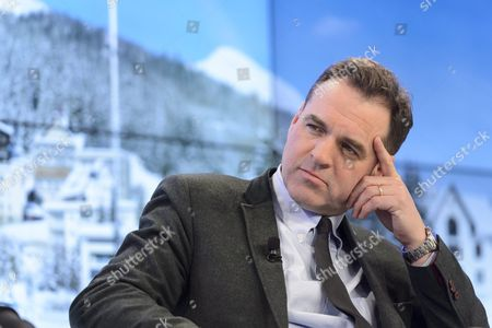 Scottish Historian and Financial Expert Niall Ferguson Attends a Panel Session at the 46th Annual Meeting of the World Economic Forum Wef in Davos Switzerland 22 January 2016 the Overarching Theme of the Meeting Which is Expected to Gather Some 2 500 Leading Politicians Un Executives Heads of Major Corporations Ngo Leaders and Artists at the Annual Four-day Gathering Taking Place From 20 to 23 January is 'Mastering the Fourth Industrial Revolution' Switzerland Schweiz Suisse Davos
