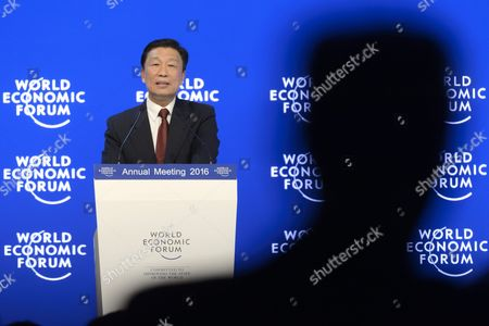 Chinese Vice President Li Yuanchao at the 46th Annual Meeting of the World Economic Forum Wef in Davos Switzerland 21 January 2016 the Overarching Theme of the Meeting Which Takes Place From 20 to 23 January is 'Mastering the Fourth Industrial Revolution ' Switzerland Schweiz Suisse Davos