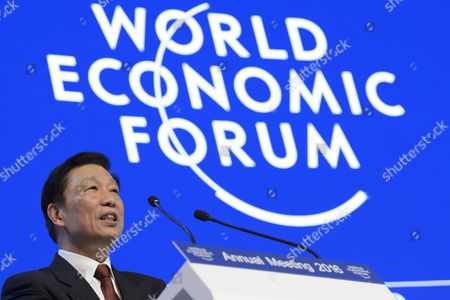 Chinese Vice President Li Yuanchao Speaks During a Panel Session Within the 46th Annual Meeting of the World Economic Forum Wef in Davos Switzerland 21 January 2016 the Overarching Theme of the Meeting Which is Expected to Gather Some 2 500 Leading Politicians Un Executives Heads of Major Corporations Ngo Leaders and Artists at the Annual Four-day Gathering Taking Place From 20 to 23 January is 'Mastering the Fourth Industrial Revolution' Switzerland Schweiz Suisse Davos
