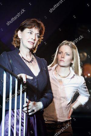 Stock Picture of l-r: Diana Kent (Phaedra), Alexandra Moen (Strophe)