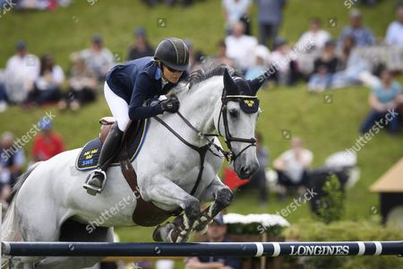 Malin Baryard-johnsson of Sweden on H&m Cue Channa in Action at the 'Furusiyya Fei Nationenpreis Der Schweiz' During the Second Day of the Csio Show Horse Jumping in St Gallen Switzerland 03 June 2016 Switzerland Schweiz Suisse St. Gallen