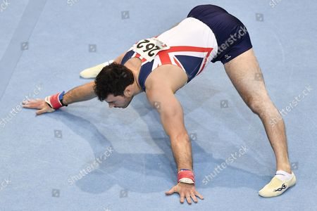 Kristian Thomas From Great Britain Performs During the Floor Exercise During the Men's Apparatus Finals at the European Men's and Women's Artistic Gymnastics Championship at the Postfinance Arena in Bern Switzerland 29 May 2016 the Men's Competations Will End on the Same Day While the Women's Championship Will Be Held From 01 to 05 June 2016 Switzerland Schweiz Suisse Bern