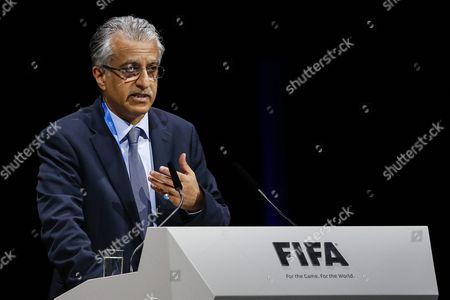 Bahrain's Sheikh Salman Bin Ebrahim Al Khalifa Candidate For Fifa President Delivers a Speech During the Extraordinary Fifa Congress 2016 Held at the Hallenstadion in Zurich Switzerland 26 February 2016 the Extraordinary Fifa Congress is Being Held in Order to Vote on the Proposals For Amendments to the Fifa Statutes and Choose the New Fifa President Switzerland Schweiz Suisse Zurich